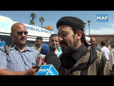 تشييع جثمان الممثل العالمي المغربي حميدو بنسمعود بمقبرة الشهداء بالرباط