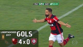 Gols - Flamengo 4 x 0 San Lorenzo (ARG) - 1ª Rodada Libertadores 2017 (Grupo 4) - 08/03/2017 Narração: Galvão Bueno,...