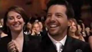 Cast of Friends presenting an Emmy award