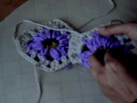 cuadritos a crochet - en este video les muestro como unir los cuadritos a crochet.
