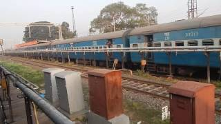 Daund India  city images : INDIAN RAILWAYS : 11034, DARBHANGA PUNE express departing Daund
