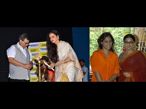 Rekha, Vidya Balan at Whistling Woods Celebrate Cinema festival