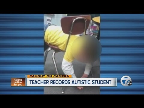 Teacher Records Autistic Student Stuck in Chair