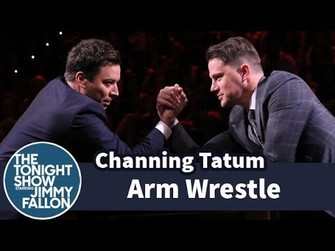 CHANNING TATUM - Jimmy challenges Channing to an arm wrestling match, during which they list all the things they're going to do when they win. Subscribe NOW to The Tonight Sh...
