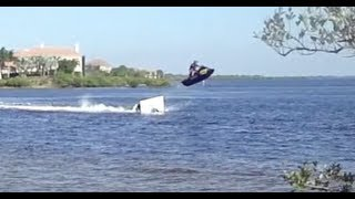 6. Seadoo RXP Ramp jump and crash!