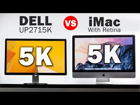 5k Dell Monitor Vs 5k iMac - The Highest Resolution Displays in the World!