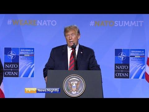 President Trump Reaffirms Commitment to NATO Despite Questions - ENN 2018-07-12