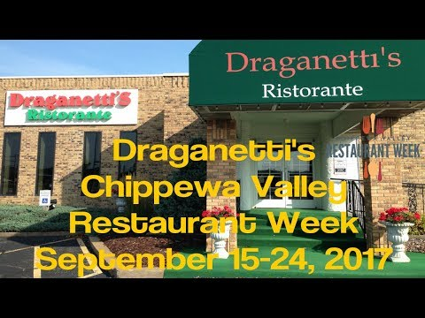 Draganettis Ristorante - Chippewa Valley Restaurant Week - Eau Claire WI - Sept 2017