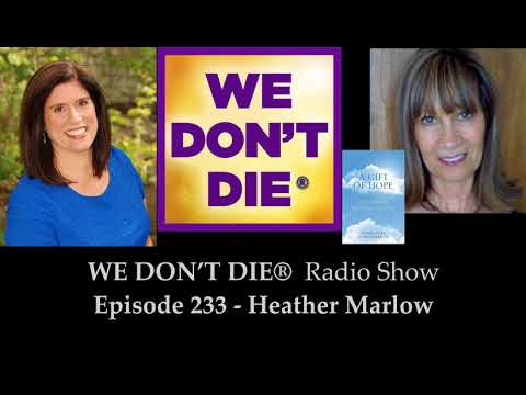 Episode 233 Heather Marlow - Sitting in the Silence &  A Gift of Hope on We Don't Die Radio