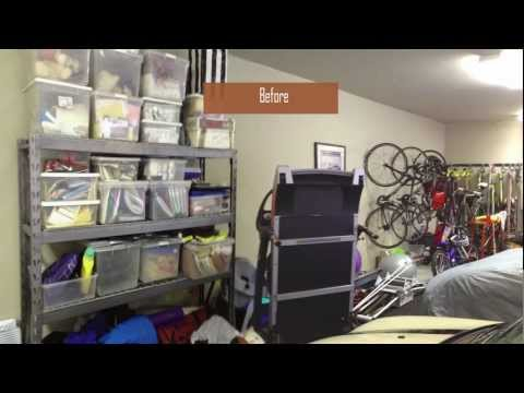 Garage Makeover with IKEA Kitchen Cabinets