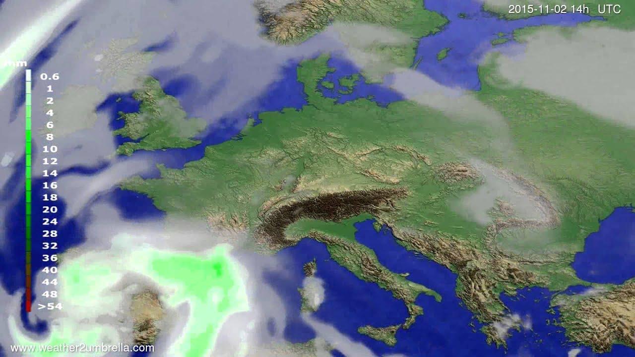 Precipitation forecast Europe 2015-10-29