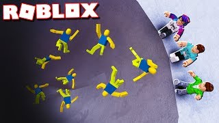 """In today's Roblox Adventure, Alex and Sketch try to push ragdoll noobs into a deadly pit in the Push Ragdoll Noobs gamemode in Roblox!► Subscribe for more! -- http://bit.ly/ThePalsSubscribe► Follow us on Twitter! -- https://twitter.com/SubZeroExtabyteJoin us in our Roblox Adventures as we play through various Roblox Gamemodes from Roblox High School, Roblox Apocalypse, Roblox Prison, Roblox Dating and more! Make sure to subscribe for me Roblox Adventures!▶ MORE VIDEOS!Roblox Adventures -- http://bit.ly/ThePalsAdventuresBest of The Pals -- http://bit.ly/BestOfThePalsMost Recent -- http://bit.ly/PalsMostRecent▶ CHECK OUT THE PALS!Denis -- http://youtube.com/denisdailyCorl -- http://youtube.com/corlAlex -- http://youtube.com/alexcraftedSketch -- http://youtube.com/SketchRobloxMoreSub -- http://youtube.com/SubRobloxMoreWhat is ROBLOX? ROBLOX is an online virtual playground and workshop, where kids of all ages can safely interact, create, have fun, and learn. It's unique in that practically everything on ROBLOX is designed and constructed by members of the community. ROBLOX is designed for 8 to 18 year olds, but it is open to people of all ages. Each player starts by choosing an avatar and giving it an identity. They can then explore ROBLOX — interacting with others by chatting, playing games, or collaborating on creative projects. Each player is also given their own piece of undeveloped real estate along with a virtual toolbox with which to design and build anything — be it a navigable skyscraper, a working helicopter, a giant pinball machine, a multiplayer """"Capture the Flag"""" game or some other, yet-to-be-dreamed-up creation. There is no cost for this first plot of virtual land. By participating and by building cool stuff, ROBLOX members can earn specialty badges as well as ROBLOX dollars (""""ROBUX""""). In turn, they can shop the online catalog to purchase avatar clothing and accessories as well as premium building materials, interactive components, and working mechanisms.►"""