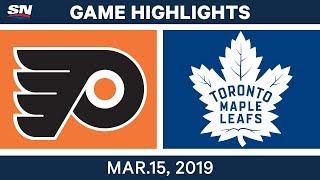 NHL Highlights   Flyers vs Maple Leafs – Mar 15, 2019