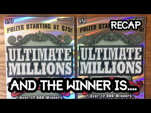 RECAP $50 Ultimate Millions Group Book ✦ WINNER ANNOUNCED! ✦ TEXAS LOTTERY SCRATCH OFF (видео)