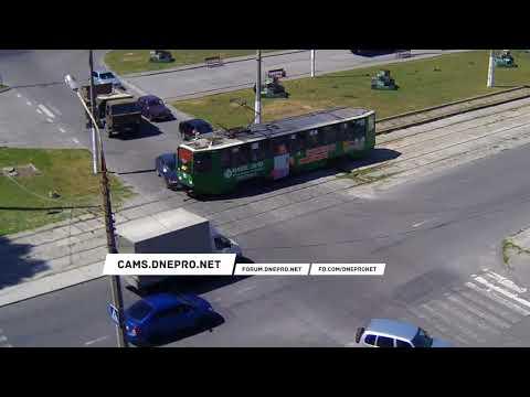 ДТП с трамваем в Каменске на улице Антошина