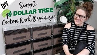 DOLLAR TREE | DIY |  COOLING RACK ORGANIZER!!!