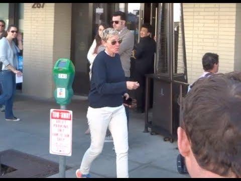 Ellen Degeneres is in a playful while at lunch in Beverly Hills - Subscribe