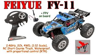 Feiyue FY-11 Review: https://goo.gl/9oEDEe Feiyue FY-11 2.4GHz, 2Ch, 4WD, (1:12 Scale), RC Short Course Truck, Waterproof,...