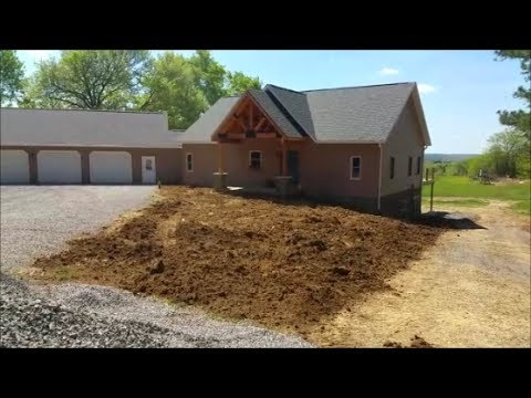 Putting in New Lawn From Start to finish Dream Country Home Build