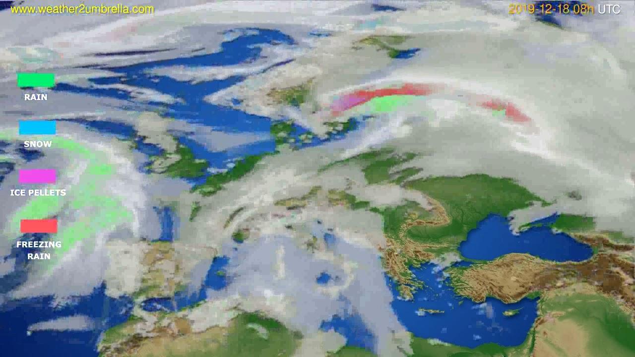 Precipitation forecast Europe // modelrun: 12h UTC 2019-12-17