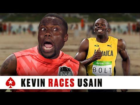 Kevin Hart Races Usain Bolt | PokerStars - Thời lượng: 1:44.