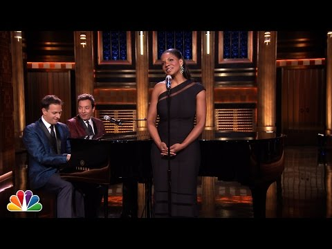 Tonight - Jimmy has Tony Award-winning Audra McDonald sing replies to real Yahoo! Questions after a suggestion from the audience. Subscribe NOW to The Tonight Show Starring Jimmy Fallon: http://bit.ly/1nwT...