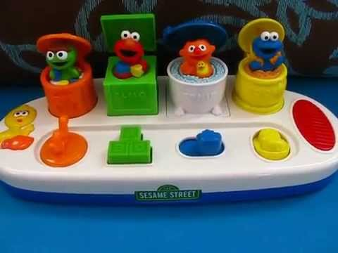 Sesame Street Singing Pop-Up Pals, Oscar, Elmo, Ernie and Cookie Monster