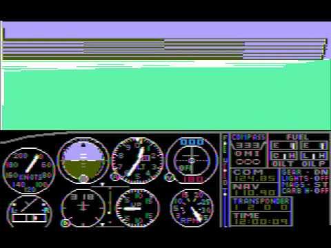 PC Booter Game: Microsoft Flight Simulator (v1.0) (1982 Microsoft)