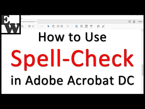 How to Use Adobe Acrobat DC's Spell-Check Tool