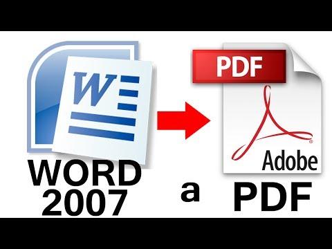 Volver con El PDF - SUSCRÍBETE haciendo clic en este enlace: http://goo.gl/CZ979R Como Convertir de Word 2007 a PDF PASO a PASO Fácil, Como Convertir de Word 2007 a PDF sin prog...