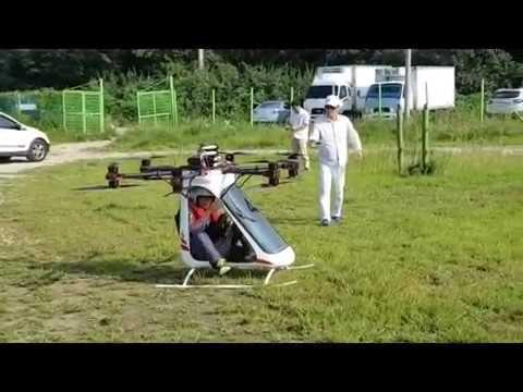 Pasażerski dron zbudowany przez Koreańczyka.