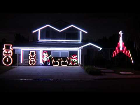 Slayer fan pays tribute to Jeff Hanneman with Christmas light show