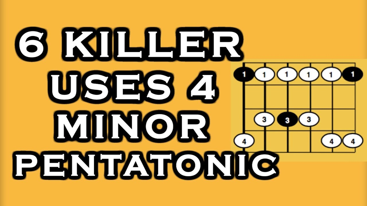 Guitar scale application – 6 Must Know uses for Minor Pentatonic Scales