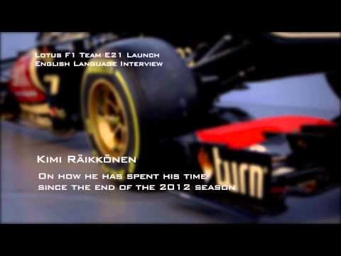 Kimi Räikkönen's First Impressions Of The Lotus E21 And Preview Of New F1 Season