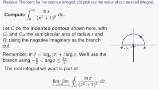Using the Residue Theorem for improper integrals involving multiple-valued functions
