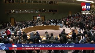 Emergency Meeting at the Security Council to Discuss U.S. Missile Strike Against Syria