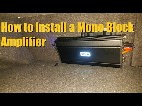 How to Install a Mono Block Amplifier / Sub Amp Installation