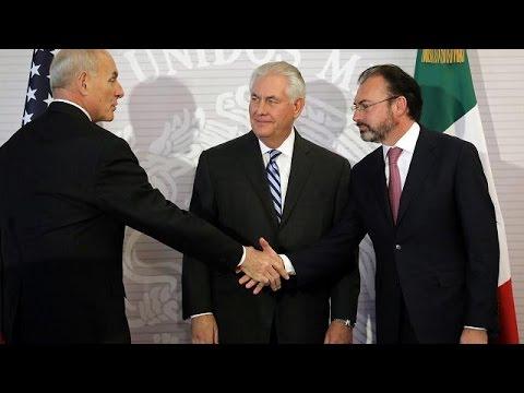 Ηλεκτρισμένη ατμόσφαιρα στη συναντήση Τίλερσον και μεξικανού ΥΠΕΞ