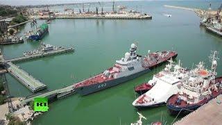 Корабли и морская пехота Каспийской флотилии приведены полную боеготовность