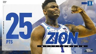 Zion Williamson dominates with 25 points in first NCAA tournament game