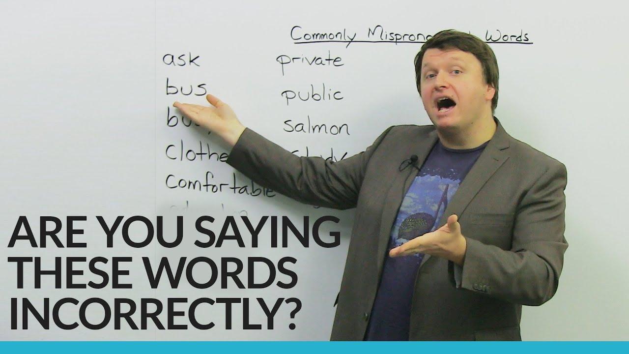 Fix these basic English pronunciation mistakes! · engVid