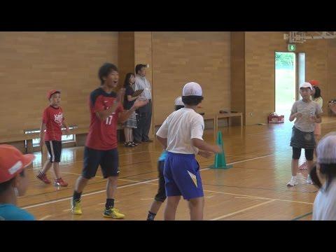 J1鹿島選手が小学校訪問 行方・津澄小