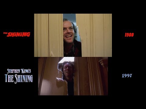 The Shining (1980/1997) side-by-side comparison