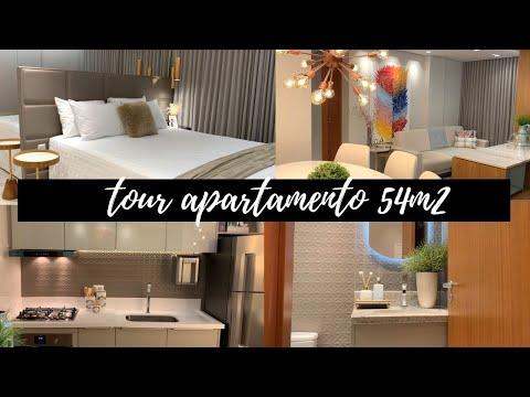 Tour por um apartamento de 54m2 | apartamento pequeno decorado