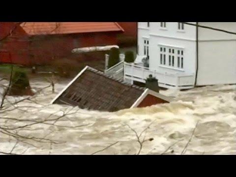 Καταστροφική καταιγίδα πλήττει τη Νορβηγία