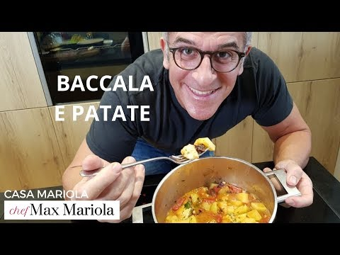 BACCALA E PATATE - FACILE - video ricetta di Chef Max Mariola