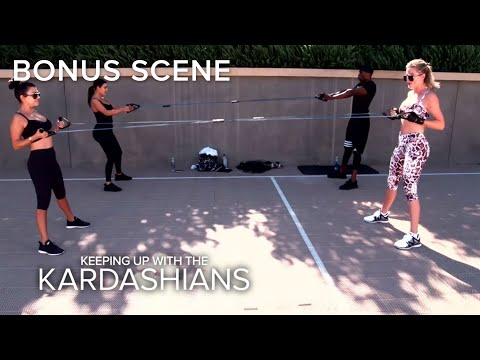 KUWTK | Kim Kardashian Not Happy During Work Out With Sisters | E!