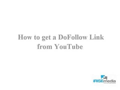 Social Media Marketing – Adding a DoFollow Link on YouTube