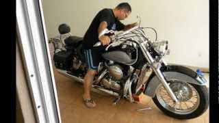 5. How to change engine oil and filter to a Honda Shadow Aero