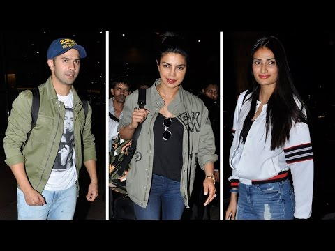 Airport Spotting: Priyanka Chopra, Varun Dhawan An